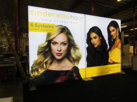 Double-sided LED Lightbox with Tension Fabric Graphics